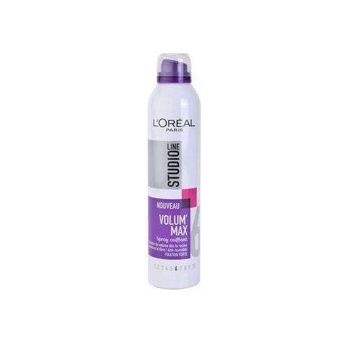 L'oréal paris  studio line volum´ max lakier do włosów do zwiększenia objętości (spray volumateur fixation forte 6) 300 ml (3600520913117)