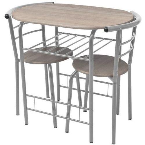 vidaXL Stolik barowy/kuchenny + krzesła, MDF (8718475967385)