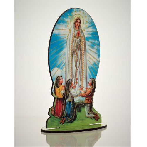 Produkt polski Drewniana figurka matki boskiej fatimskiej