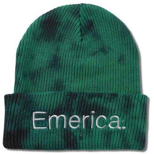 czapka zimowa EMERICA - Tied Cuff Beanie Green/Black (310) rozmiar: OS, kolor zielony