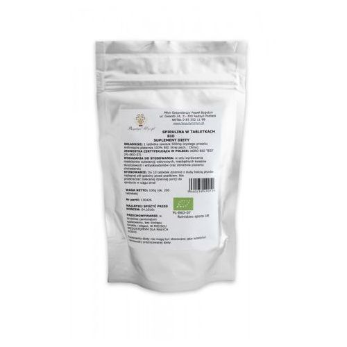 Bogutyn młyn (spirulina, chlorella, superfoods) Spirulina bio 100 g (200 sztuk) tabletki - bogutyn młyn (5060238490108)