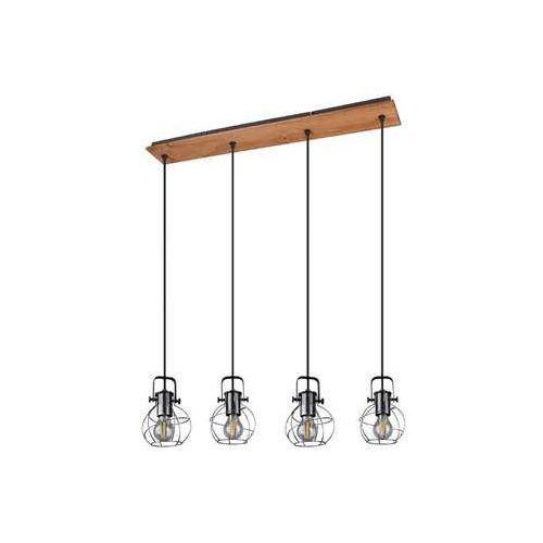 Trio Madras 305300488 lampa wisząca zwis 4x28W E27 brązowy / czarny, kolor Czarny