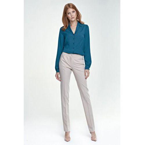 Eleganckie spodnie SD25 beż, kolor beżowy