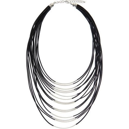 Kolia czarno-srebrny kolor marki Bonprix