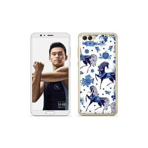 etuo Fantastic Case - Huawei Nova 2S - etui na telefon Fantastic Case - folkowe niebieskie konie