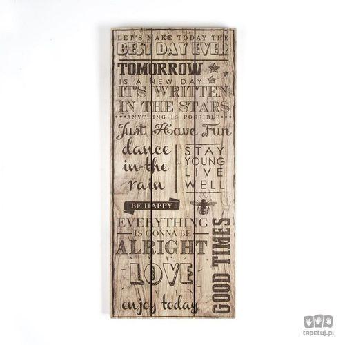 Obraz na drewnie best day ever 102502 marki Graham&brown