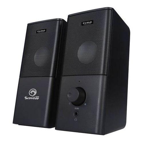 głośniki sg-117, 2.0, 6w, czarne, regulacja głośności, do gry, 200hz-16khz marki Marvo
