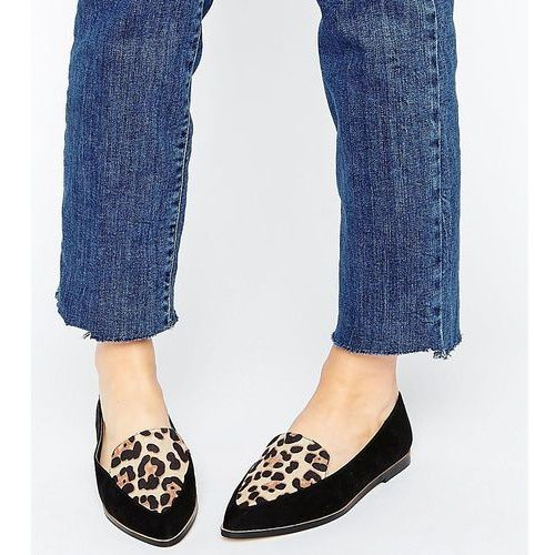 martha wide fit pointed flat shoes - multi, Asos