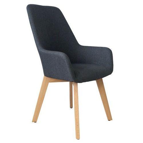 Krzesło tapicerowane z podłokietnikami Nord dark grey, kolor szary