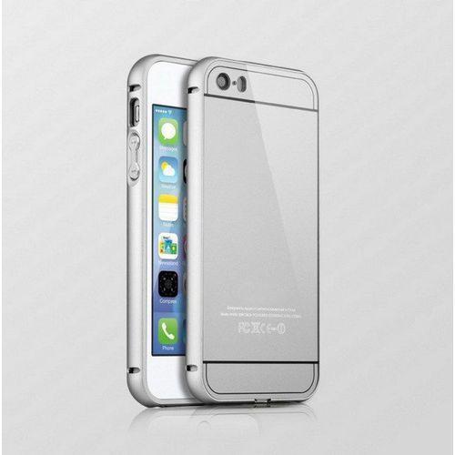 Mat bumper Obudowa bumper metal case apple iphone 5 / 5s / 5se - srebrna - srebrny