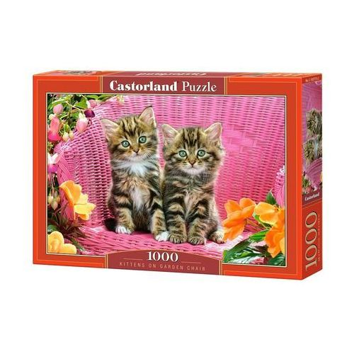 Puzzle Kittens on Garden Chair 1000 - Castor, 1_604400