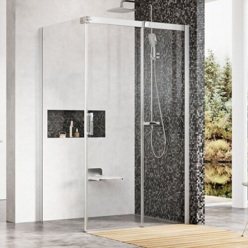 Ravak matrix msdps-110/80 r kabina prysznicowa 110x80 cm prostokątna prawa biel/transparent 0wpd4100z1