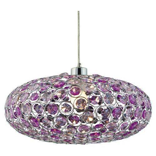 Candellux Lampa wisząca  cristy 31-92635 fioletowy + linka 85-10523 + darmowy transport! (5906714792635)
