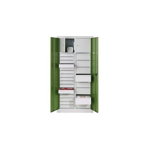 Szafka na materiały z blachy stalowej,2 półki, 24 szuflady, 2 schowki marki Cp