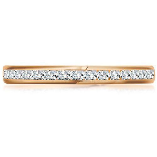 YES Rings Collection - złoty pierścionek z cyrkoniami
