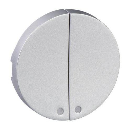 Klawisz podwójny bez diod Schneider Odace S530298 aluminium, S530298