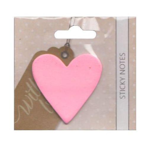 Incood Karteczki samoprzylepne with love... - serca różowe 0070/0003 -  (5908293551719)