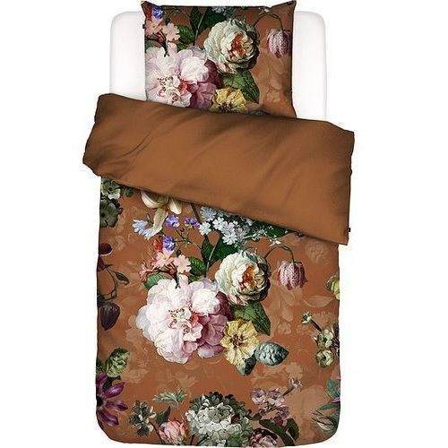Pościel Fleurel brązowa 140 x 200 cm z poszewką na poduszkę 70 x 90 cm, kolor brązowy