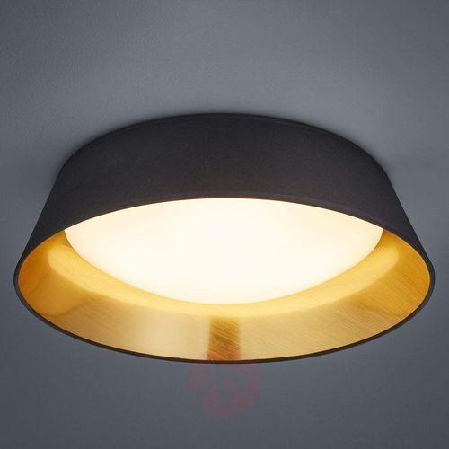Natynkowa LAMPA sufitowa PONTS R62871879 Trio abażurowa OPRAWA okrągła LED 18W natynkowa czarna
