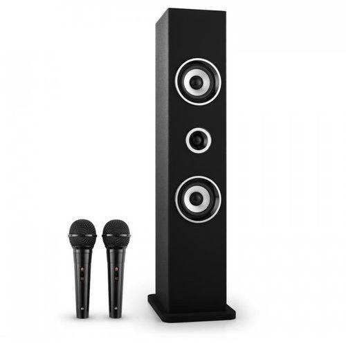 Auna Karaboom głośnik bluetooth zestaw karaoke 2 mikrofony czarny