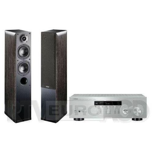 Yamaha MusicCast R-N303D (srebrny), Indiana Line Nota 550 X (czarny dąb) (0000001133169)