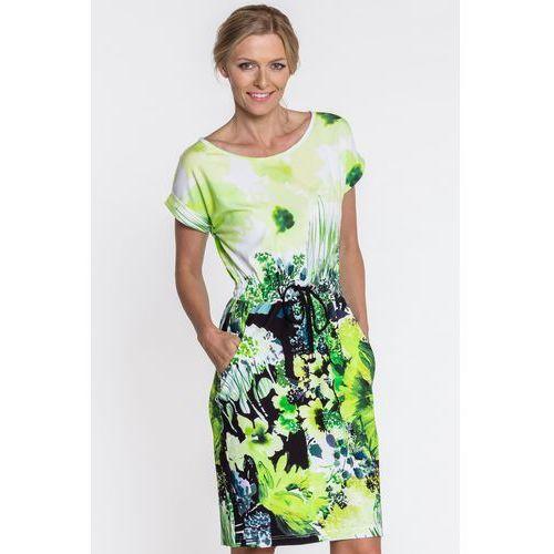 Sukienka w kwiatowy deseń - Metafora, kolor wielokolorowy
