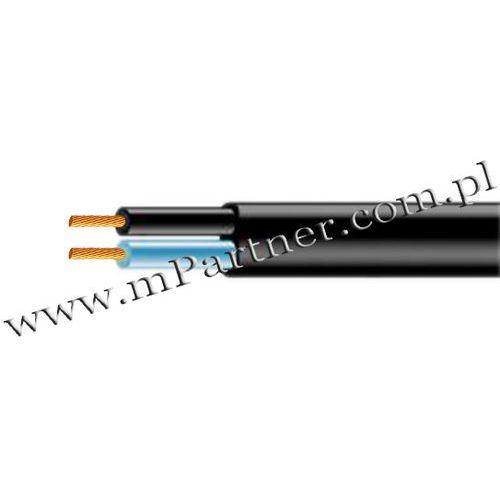 Przewód OMYP 2x0,75mm czarny płaski 100m