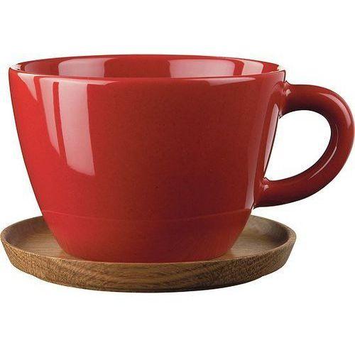 Filiżanka z podstawką do herbaty Höganäs Keramik czerwona, 1011103