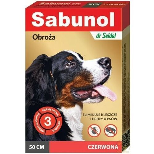 Sabunol obroża czerwona na pchły i kleszcze 50cm marki Dr seidel