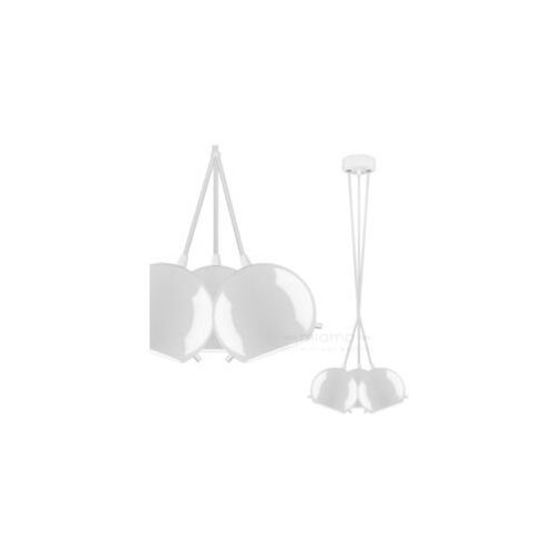 Sotto luce Lampa wisząca myoo 3b/s/opal szklana oprawa nowoczesna zwis kule białe (1000000209945)