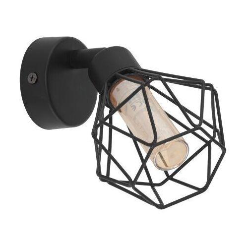 Eglo Kinkiet zapata 1 32765 lampa ścienna druciana sufitowa spot 1x3w g9-led czarny/ bursztynowy