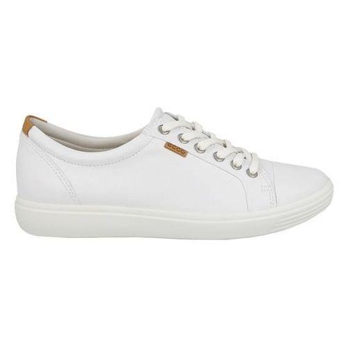 Buty soft 7 ladies 430003 01007 - białe marki Ecco