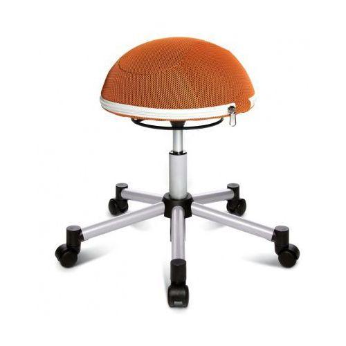 Krzesło dla zdrowych pleców HALF BALL, krzyż metalowy, pomarańczowa