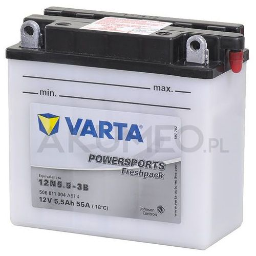 Akumulator powersports 12n5.5-3b 12v 5.5ah 55a prawy+ op marki Varta