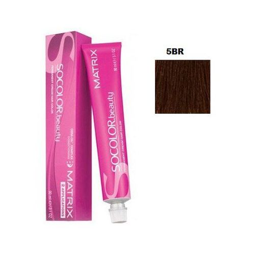 Matrix Socolor Beauty pielęgnująca farba do włosów odcień 5BR (Light Brown Brown Red) 90 ml, kolor brąz