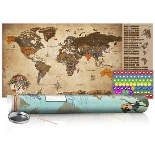 Mapa zdrapka - mapa vintage - plakat (wersja angielska) marki Artgeist
