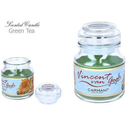 Świeczka zapachowa american mały - V. Van Gogh. Green Tea