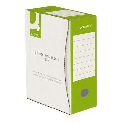 Q-connect Pudło archiwizacyjne , karton, a4/120mm, zielone