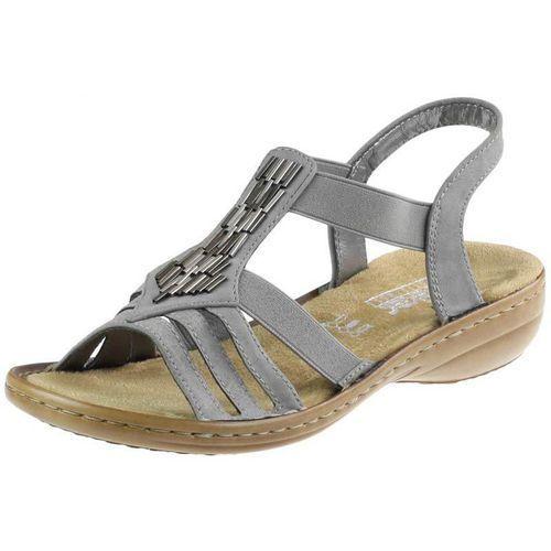 Sandały 60800 - szare, Rieker