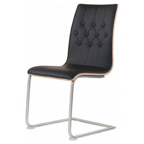 Pikowane krzesło Senter - czarne + orzech, V-CH-K/190-KR
