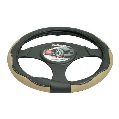 Pokrowiec na kierownicę 37-39,5 Luxury beżowy, 5901225424006