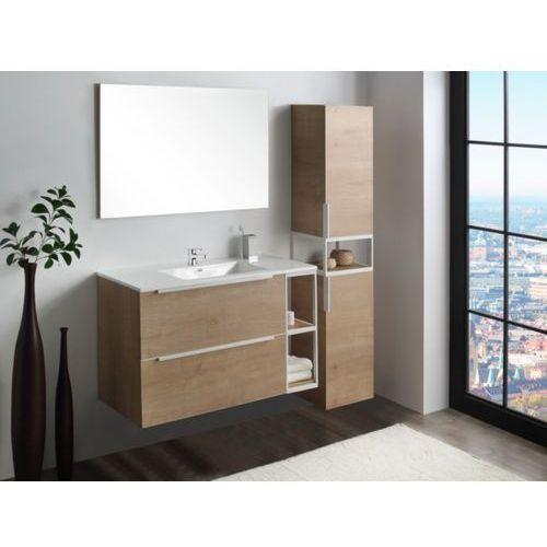 Zestaw orane – szafki łazienkowe – kolor drewnopodobny marki Vente-unique