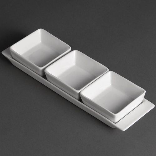 Zestaw półmisek + naczynia | 30x9x(H)3,5cm