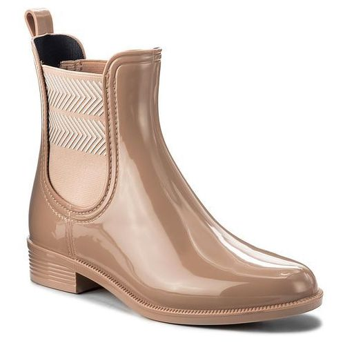 Kalosze TOMMY HILFIGER - Chelsea Rain Boot Striped FW0FW02817 Mahogany Rose 634, 36-42