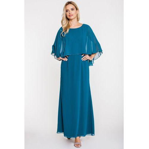 L'ame de femme Morska sukienka z woalką -