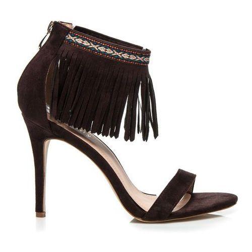 Brązowe sandały boho - odcienie brązu i beżu, Wilady