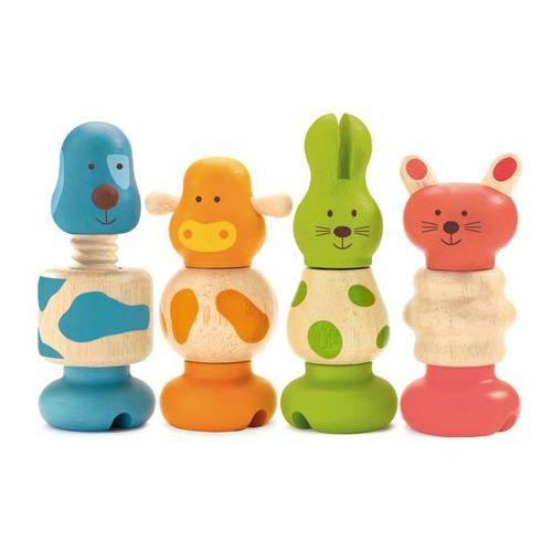 Djeco Drewniana zabawka śruby - zwierzaki dj06304 (3070900063044)