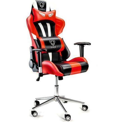 Fotel DIABLO CHAIRS X-Eye Czarno-biało-czerwony + Zamów z DOSTAWĄ JUTRO! (5902560332414)