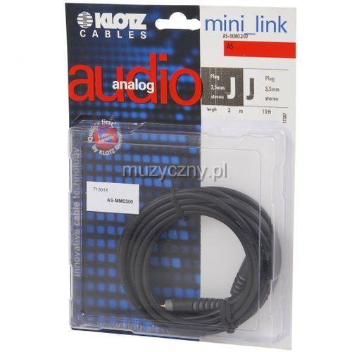 Klotz as mm 0300 kabel mini trs / mini trs 3m