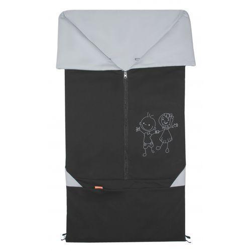 Emitex śpiworek do wózka/fusak 2w1 Bary, czarny/szary (8595624425411)